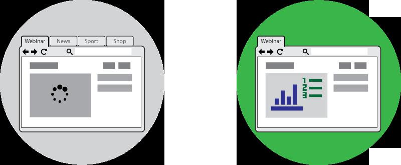 Browser use in a webinar