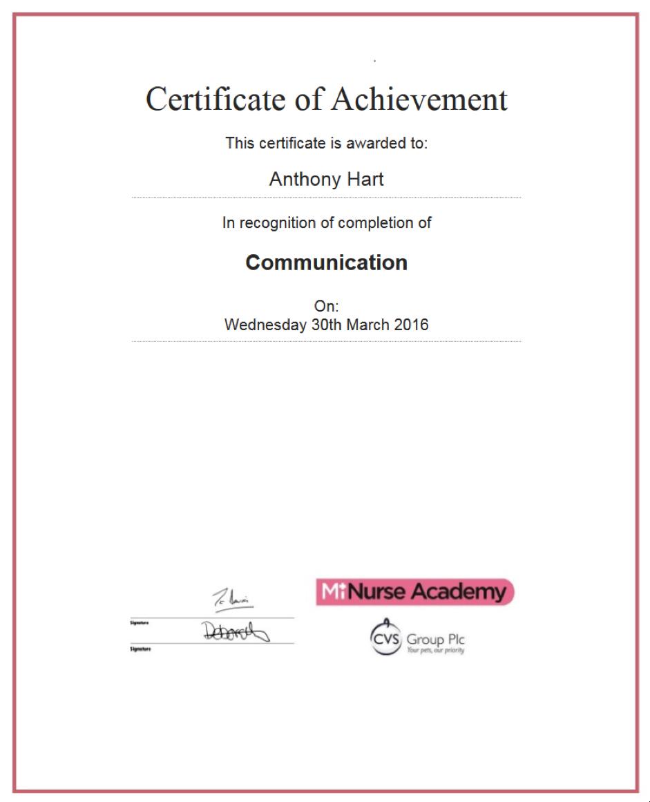 CPD webinar certificate