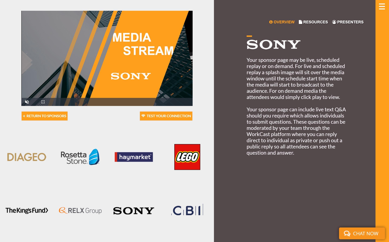 Tile Sponsor Page